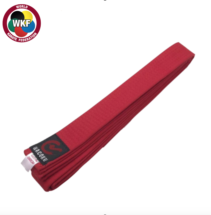 Wacoku Double Round Colour Belt - Red(#220)