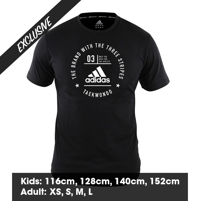 Adidas Taekwondo Community T-Shirt (Black & White)