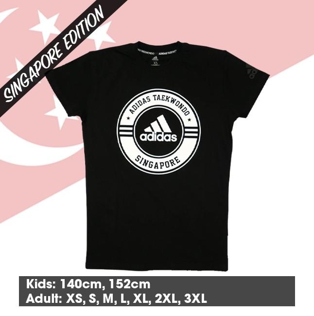 """Adidas Taekwondo """"Singapore"""" Community T-Shirt (Black & White)"""