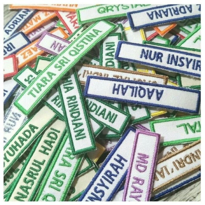 Name Tag Embroidery
