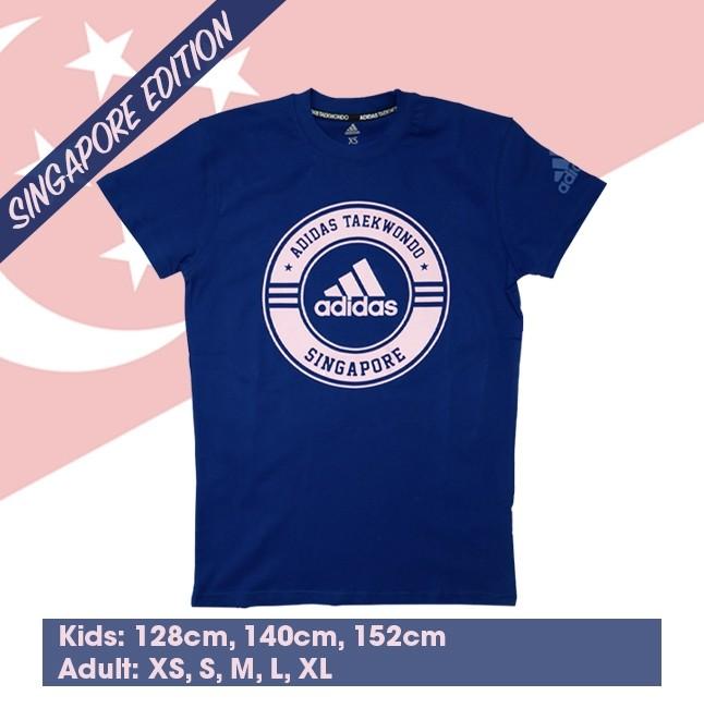 "Adidas Taekwondo ""Singapore"" Community T-Shirt (MysteryInk & ClearLac)"