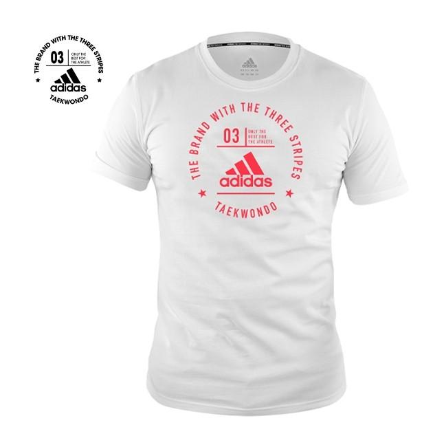 Adidas Taekwondo Community T-Shirt (White & Shock Red)